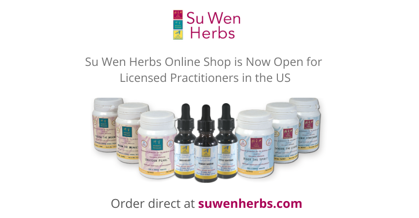 Su Wen Herbs online shop is now open for US practitioners
